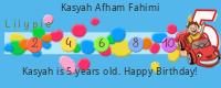 Lilypie Fifth Birthday (9cdW)