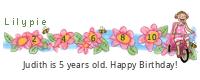 Lilypie Fifth Birthday (DejA)